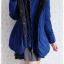 ((ขายแล้วครับ))ca-2897 เสื้อโค้ทขนเป็ดสีน้ำเงิน รอบอก37 thumbnail 3