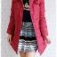 ((ขายแล้วครับ))((จองแล้วครับ))ca-2802 เสื้อโค้ทขนเป็ดสีแดง รอบอก38 thumbnail 3