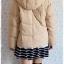 ((ขายแล้วครับ))ca-2551 เสื้อโค้ทกันหนาวผ้าร่มขนเป็ดสีกากี รอบอก40 thumbnail 2