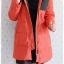((ขายแล้วครับ))((จองแล้วครับ))ca-2907 เสื้อโค้ทขนเป็ดสีแสด รอบอก42 thumbnail 3
