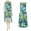Dorothy Perkins Blue Dip Hem Dress Size uk10 thumbnail 2