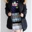((ขายแล้วครับ))((คุณNuttakanจองครับ))ca-2805 เสื้อโค้ทขนเป็ดสีดำ รอบอก42 thumbnail 3