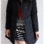 ((ขายแล้วครับ))((คุณสิริภาจองครับ))ca-2858 เสื้อโค้ทขนเป็ดสีดำ รอบอก37 thumbnail 3