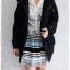 ((ขายแล้วครับ))((จองแล้วครับ))ca-2786 เสื้อโค้ทกันหนาวสีดำ รอบอก39 thumbnail 3