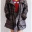 ((ขายแล้วครับ))((คุณบีจองครับ))ca-2839 เสื้อโค้ทกันหนาวผ้าร่มลายเทาดำ รอบอก41 thumbnail 3