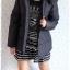 ((ขายแล้วครับ))((จองแล้วครับ))ca-2760 เสื้อโค้ทขนเป็ดสีดำ รอบอก40 thumbnail 3