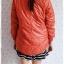 ((ขายแล้วครับ))ca-2827 เสื้อโค้ทกันหนาวผ้าร่มสีส้ม รอบอก38 thumbnail 2