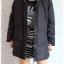 ((ขายแล้วครับ))((จองแล้วครับ))ca-2761 เสื้อโค้ทขนเป็ดสีดำ รอบอก44 thumbnail 3