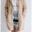 ((ขายแล้วครับ))(จองแล้วครับ))ca-2789 เสื้อโค้ทกันหนาวผ้าร่มีกากี รอบอก37 thumbnail 3