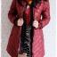 ((ขายแล้วครับ))((จองแล้วครับ))ca-2829 เสื้อโค้ทกันหนาวผ้าร่มสีไวน์แดง รอบอก36 thumbnail 3