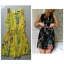 Primark Floral Yellow Dress Size uk10 thumbnail 1