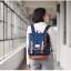 """กระเป๋าเป้สะพาย ยี่ห้อ Superlover สไตส์ญี่ปุ่น มีช่องใส่ Notebook14"""" สีน้ำเงินดอกไม้ (Pre-Order) ใบเล็ก thumbnail 7"""