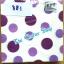 napkin ลายวงกลมม่วงชมพู (รหัสสินค้า NA-881) thumbnail 1