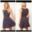 ASOS Floral Navy Skater Dress Size uk8 thumbnail 2