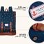 """กระเป๋าเป้สะพาย ยี่ห้อ Superlover สไตส์ญี่ปุ่น มีช่องใส่ Notebook14"""" สีน้ำเงินดอกไม้ (Pre-Order) ใบเล็ก thumbnail 10"""