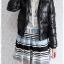 ((ขายแล้วครับ))((คุณสฺุตาจองครับ))ca-2766 เสื้อแจ๊คเก็ตขนเป็ดสีดำ รอบอก37 thumbnail 3