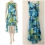 Dorothy Perkins Blue Dip Hem Dress Size uk10 thumbnail 1