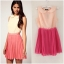 Topshop Rare Two Tone Chiffon Pleat Dress Size uk12 thumbnail 1