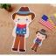 ผ้าสักหลาดเกาหลี ตุ๊กตาพื้นบ้าน (Boy) 1mm มี 7 แบบ ขนาด 45x30 cm/ชิ้น (Pre-order) thumbnail 5