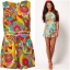 River island Bright Print Playsuit Size uk8 thumbnail 3
