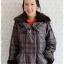 ((ขายแล้วครับ))((คุณบีจองครับ))ca-2839 เสื้อโค้ทกันหนาวผ้าร่มลายเทาดำ รอบอก41 thumbnail 1