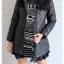 ((ขายแล้วครับ))((จองแล้วครับ))ca-2731 เสื้อโค้ทกันหนาวสีดำ รอบอก38 thumbnail 3
