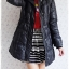 ((ขายแล้วครับ))((จองแล้วครับ))ca-2852 เสื้อโค้ทขนเป็ดสีดำ รอบอก36 thumbnail 3