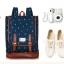 """กระเป๋าเป้สะพาย ยี่ห้อ Superlover สไตส์ญี่ปุ่น มีช่องใส่ Notebook14"""" สีน้ำเงินดอกไม้ (Pre-Order) ใบเล็ก thumbnail 2"""