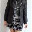 ((ขายแล้วครับ))((คุณMaMeจองแล้วครับ))ca-2749 เสื้อโค้ทขนเป็ดสีดำ รอบอก36 thumbnail 3