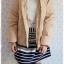 ((ขายแล้วครับ))ca-2551 เสื้อโค้ทกันหนาวผ้าร่มขนเป็ดสีกากี รอบอก40 thumbnail 3