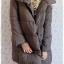 ((ขายแล้วครับ))((จองแล้วครับ))ca-2876 เสื้อโค้ทขนเป็ดสีเทา รอบอก42 thumbnail 3