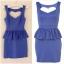 Topshop blue peplum dress สินค้าใหม่ ไชส์ uk 8 thumbnail 1