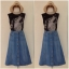 Topshop Moto Denim skirt size uk8-uk10 thumbnail 2