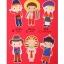 ผ้าสักหลาดเกาหลี ตุ๊กตาพื้นบ้าน (Boy) 1mm มี 7 แบบ ขนาด 45x30 cm/ชิ้น (Pre-order) thumbnail 2