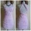 Lipsy Baby Pink Chiffon Dress Size uk10 thumbnail 1