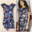 ASOS Floral Cap Sleeve Dress Size uk8 thumbnail 1