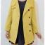 ca-2934 เสื้่อโค้ทกันหนาวผ้าวูลสีเหลือง รอบอก34 thumbnail 3