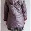 ((ขายแล้วครับ))ca-2824 เสื้อโค้ทกันหนาวผ้าร่มสีเทาเหลีอบแดง รอบอก37 thumbnail 2
